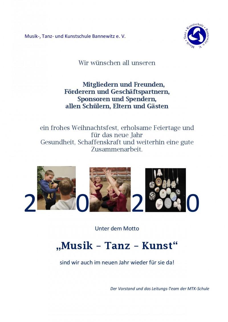 Musik , Tanz  und Kunstschule Bannewitz e.V.   Aktuelles